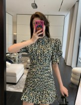 Dress Spring 2021 Wizard of Oz XS S M L XL Middle-skirt singleton  elbow sleeve commute stand collar middle-waisted Socket other 25-29 years old Xi Meng More than 95% other Other 100% Pure e-commerce (online only)