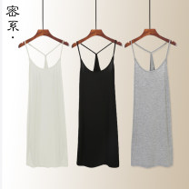 Vest sling Summer 2020 Off white gray black Navy Pink light blue yellow rose red watermelon red pure white light skin color fruit green skin color Y70 Y75 Y80 Y85 Y95 singleton  Medium length Self cultivation commute camisole Solid color 18-24 years old 91% (inclusive) - 95% (inclusive) modal
