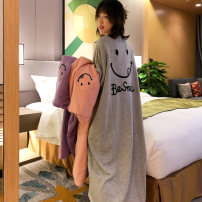 Nightdress Autumn beauty M L XL XXL Cartoon Long sleeves Leisure home longuette winter Cartoon animation youth Crew neck Polyester (polyester) printing More than 95% j3QuE_ bB2ct 200g Autumn 2020 New polyester fiber 100% Pure e-commerce (online only) New polyester fiber 100%