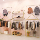 Clothing display rack clothing iron Xfzld-001, js-double-layer-01 combination series Art student Official standard