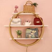 Clothing shelves Round shelf (gold), custom silver contact customer service Fujian Province Metal iron Wall mounted
