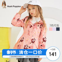Plain coat Hush Puppies / Hush Puppies female 105cm 110cm 120cm 130cm 140cm 150cm 160cm 170cm Tibetan blue powder EL light clove spring and autumn Cartoon Zipper shirt There are models in the real shooting routine No detachable cap Cartoon animation chemical fiber HPNQGD30CC712 Polyester 100% Class C