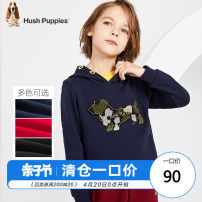 Sweater / sweater Hush Puppies / Hush Puppies Classic Red Navy Diamond Black male 105cm 110cm 120cm 130cm 140cm 150cm 160cm 170cm spring and autumn No detachable cap motion Socket routine There are models in the real shooting cotton Cartoon animation Cotton 100% HPNQBD24CQ546 Class C Cotton liner