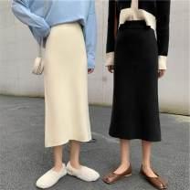 Women's large Autumn of 2019 Black apricot light grey dark grey S M commute Solid color Korean version 4718# Seven color imperial concubine 18-24 years old 51% (inclusive) - 70% (inclusive) longuette Triacetate fiber (triacetate fiber) 100%