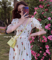 Women's large Summer 2020 S M L XL 2XL singleton  commute moderate Short sleeve Decor lady square neck puff sleeve Yugou 18-24 years old longuette Other 100% Pure e-commerce (online only) other