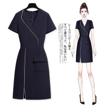 Dress Autumn 2020 S M L XL 2XL 3XL Middle-skirt singleton  Long sleeves commute V-neck middle-waisted zipper Pencil skirt routine Others 30-34 years old Type X Mengci (clothing) Ol style Pocket zipper c2157 More than 95% other Other 100% Pure e-commerce (online only)