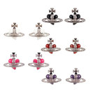 Ear Studs Alloy / silver / gold RMB 25-29.99 Other / other brand new Europe and America female goods in stock Fresh out of the oven Alloy inlaid artificial gem / semi gem Love / water drop / bell