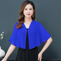 Lace / Chiffon Summer 2021 Red white royal blue black XL 2XL 3XL Sleeveless commute Socket singleton  easy Regular V-neck Solid color routine 40-49 years old Zhenfei (clothing) Resin fixation 96% and above Polyester 100% Pure e-commerce (online only) polyester fiber