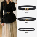 Belt / belt / chain top layer leather female belt leisure time Single loop youth Smooth button Glossy surface soft surface 2cm copper alone MK&DK