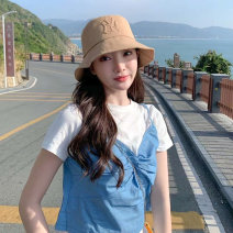 Hat cotton M (54-58cm) adjustable Basin cap / fisherman's hat Spring summer autumn winter currency leisure time Young lovers dome Wide eaves 20-24 years old, 25-29 years old, 30-34 years old alone Travel Flat eaves Spring 2021 no