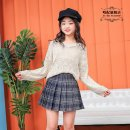 skirt Spring 2021 110 120 130 XS52 S70 M100 Black solid white solid light gray lattice off white lattice pink lattice Navy lattice Middle-skirt fresh Natural waist Pleated skirt other PdJaFEPb More than 95% other Tapai other Other 100%