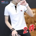 T-shirt Youth fashion routine M L XL 2XL 3XL 4XL Qi Fei's success Short sleeve Lapel Self cultivation Other leisure summer Cotton 100% youth routine tide Cotton wool Summer 2021 Solid color printing cotton other No iron treatment Fashion brand Pure e-commerce (online only) More than 95%