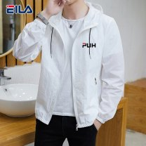 Jacket Qi Fei's success Youth fashion Gray white light blue yellow S M L XL 2XL 3XL thin Self cultivation Other leisure summer 88888-dfl Polyamide fiber (nylon) 100% Long sleeves Wear out Hood tide youth routine Zipper placket No iron treatment Closing sleeve Solid color polyester fiber Summer 2021