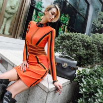 Dress Winter 2020 Delivery within 15 days after payment S M L Middle-skirt 25-29 years old nava moda 30% and below polyester fiber Viscose (viscose) 51.1% polyester 29.1% polyamide (nylon) 19.8% Exclusive payment of tmall