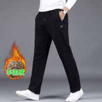 sweatpants  easy XL 2XL 3XL 4XL 5XL 6XL 7XL 8XL middle age trousers Fashion City It's a long time motion winter Basic public Plush and thicken 2020 Men's fashionable casual sports pants z99p28kz Medium high waist Straight cylinder Micro bomb Solid color Pocket decoration washing Winter 2020 cotton