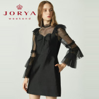 Dress Spring 2021 Black, white S,M,L Short skirt singleton  Long sleeves other middle-waisted zipper A-line skirt routine 25-29 years old Type A JORYA weekend More than 95% other