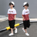 suit Other / other Red for white, blue for white, green for white 120cm,130cm,140cm,150cm,160cm,170cm male summer Korean version Short sleeve + pants 2 pieces Thin money There are models in the real shooting Socket Solid color cotton children birthday Genuine products in the counter Class B Shanghai