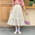 skirt Summer 2020 M L XL XXL Apricot white black Mid length dress commute High waist A-line skirt Solid color Type A 18-24 years old SL2020052803 More than 95% Love (clothing) polyester fiber fold Korean version Polyester 100% Pure e-commerce (online only)