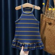 Dress female Other / other 80, 90, 100, 110, 120, 130 Cotton 95% polyurethane elastic fiber (spandex) 5% summer Korean version Skirt / vest Dot cotton FHW622 Class B 12 months, 9 months, 18 months, 2 years old, 3 years old, 4 years old, 5 years old, 6 years old