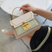 Bag The single shoulder bag PU Small square bag White black yellow green brand new Small Buckle Single shoulder chain synthetic leather Winter 2020