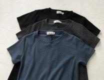 Dress Summer 2021 Black, dark grey, dark blue M, L Short skirt singleton  Short sleeve Crew neck Solid color Socket A-line skirt Type A Ocnltiy More than 95%