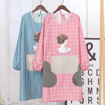 apron Sleeve apron waterproof Japanese  PVC Personal washing / cleaning / care Average size Plaid long sleeve apron Other / other public yes like a breath of fresh air