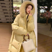 Cotton padded clothes Yellow Black Beige milk tea S M L XL 2XL 3XL Winter 2020 Chang Xiao Medium length Long sleeves thickening zipper commute Hood routine Straight cylinder Solid color Korean version two thousand and seven zipper polyester fiber 25-29 years old Pure e-commerce (online only)