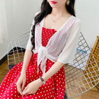 Lace / Chiffon Spring 2021 Summer rain cape white M L XL 2XL 3XL Short sleeve commute Cardigan singleton  easy have cash less than that is registered in the accounts V-neck Solid color routine 25-29 years old Changyan CY20213698563212365 Frenulum lady 31% (inclusive) - 50% (inclusive) Other 100%