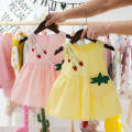 Dress Summer 2020 Bag three flowers yellow bag three pollen purple three strawberry pink send bag three strawberry yellow send bag random money It is suggested that according to the actual height + 5cm 73cm 80cm 90cm 100cm Middle-skirt Sleeveless Crew neck Solid color A-line skirt 18-24 years old