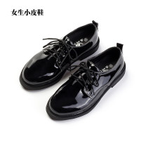 Low top shoes 35,36,37,38,39 Other / other Bright black Sharp point PU Flat bottom Flat heel (1cm or less) Deep mouth PU Summer of 2018 Frenulum solar system Youth (18-40 years old) Solid color Single shoes PU XG-11