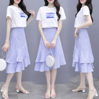 Fashion suit Spring 2021 S,M,L,XL,XXL Blue, pink 18-25 years old 6060# 51% (inclusive) - 70% (inclusive) polyester fiber