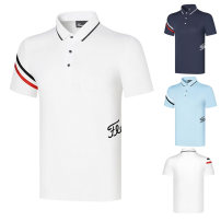 Golf apparel White, sapphire blue, ice blue XS,S,M,L,XL,XXL,XXXL male oother t-shirt