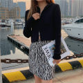 skirt Spring 2021 S,M,L Zebra pattern Short skirt commute High waist A-line skirt Zebra pattern Type A 18-24 years old BSQ20201203001 91% (inclusive) - 95% (inclusive) other Other / other polyester fiber zipper Korean version 201g / m ^ 2 (including) - 250G / m ^ 2 (including)