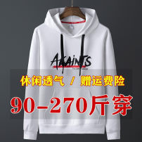 Sweater Youth fashion Others letter Socket routine Hood Spring and Autumn easy leisure time Large size tide routine Polyester 95% polyurethane elastic fiber (spandex) 5% polyester fiber printing No iron treatment Kangaroo pocket leisure time 90% (inclusive) - 95% (inclusive)