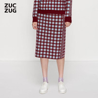 skirt Winter of 2019 4/165 Middle-skirt Natural waist More than 95% Zuczug / Suran wool Same model in shopping mall (sold online and offline)