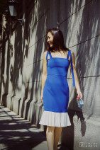 Dress Summer of 2019 Royal Blue S,M,L Atelier Miss Lu