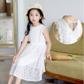 Dress white female Non Hanbei 120cm 130cm 140cm 150cm 160cm Polyester 100% summer princess Skirt / vest Solid color other A-line skirt Class B Summer 2020 4 years old, 5 years old, 6 years old, 7 years old, 8 years old, 9 years old, 10 years old, 11 years old, 12 years old, 13 years old, 14 years old