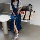 skirt Autumn 2020 S M Graph color longuette commute Natural waist Denim skirt Solid color 18-24 years old 51% (inclusive) - 70% (inclusive) Denim Yueying polyester fiber Korean version Polyester 56% cotton 44% Pure e-commerce (online only)