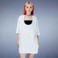 T-shirt White black Average size Spring 2021 Short sleeve Crew neck easy Medium length routine street cotton 96% and above 18-24 years old other Miss HPLY IJB21620375 Cotton 100% Same model in shopping mall (sold online and offline) Europe and America