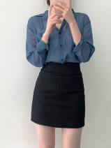 skirt 201g / m ^ 2 (including) - 250G / m ^ 2 (including) Summer 2021 Short skirt 91% (inclusive) - 95% (inclusive) High waist polyester fiber skirt Versatile Solid color 18-24 years old Type H SSS brocade XS,S,M,L Black, white, brown