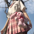 skirt Spring of 2019 S,M,L,XL,2XL Short skirt Versatile High waist Pleated skirt lattice Type A 18-24 years old cotton