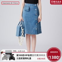 skirt Spring 2021 S M L Mid length dress commute Natural waist A-line skirt letter Type A 25-29 years old 81% (inclusive) - 90% (inclusive) Denim Laurence & Chico cotton Simplicity Cotton 82% regenerated cellulose 13% polyester 5% Same model in shopping mall (sold online and offline)