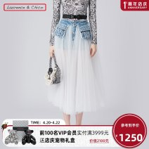 skirt Spring 2021 S M L Light blue longuette Sweet Natural waist Fluffy skirt Solid color Type A 25-29 years old 21SSCD008 More than 95% Denim Laurence & Chico other Lotus leaf edge Other 100% Same model in shopping mall (sold online and offline) princess