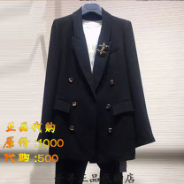 suit Spring 2021 Blue, gray, white, orange, yellow, black 2 = s, 3 = m, 4 = L, 5 = XL Long sleeves routine Straight cylinder tailored collar double-breasted commute routine Solid color 5400373-249141-001 30-34 years old 51% (inclusive) - 70% (inclusive) other Pretend to be amashizheng Button