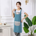 apron Simple blue simple violet simple gray simple blue + bird simple gray + bird simple blue + chrysanthemum simple violet + chrysanthemum simple gray + Chrysanthemum Sleeveless apron antifouling Korean version other Household cleaning Average size Jieyao public yes like a breath of fresh air
