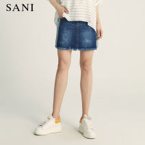 skirt Summer 2020 S M L Short skirt commute High waist A-line skirt 35-39 years old 91% (inclusive) - 95% (inclusive) sani cotton Simplicity Same model in shopping mall (sold online and offline)