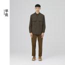 shirt Fashion City Shan Nong S M L XL Dark green thick Pointed collar (regular) Long sleeves standard Other leisure autumn R8310920 youth Polyamide fiber (nylon) 85.4% polyurethane elastic fiber (spandex) 14.6% Japanese Retro 2020 Solid color Autumn 2020 nylon 80% (inclusive) - 89% (inclusive)
