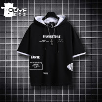 T-shirt Black gray black and white Ou Yangfeng 130cm 140cm 150cm 160cm 170cm male summer Short sleeve Crew neck leisure time No model nothing cotton printing Cotton 62.8% polyester 37.2% OYF20B-YY0291 Class B Summer 2021 Chinese Mainland Flanging Totem Zhejiang Province Hangzhou