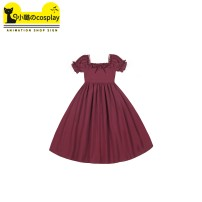 Dress Summer 2020 Full medium skirt and full long skirt are available in stock. [20 yuan for 1 match] S,M,L Middle-skirt singleton  Short sleeve Sweet other High waist Solid color Socket A-line skirt puff sleeve Others 18-24 years old Type A Other / other Bow, ruffle, fungus, zipper O20129 Lolita