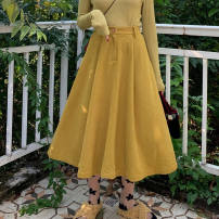 Square dance skirt Yellow, collect and purchase first S,M,L,XL longuette High waist female Solid color other